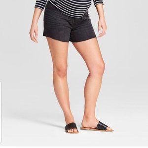 Ingrid Isabel Maternity Crossover Shorts Black
